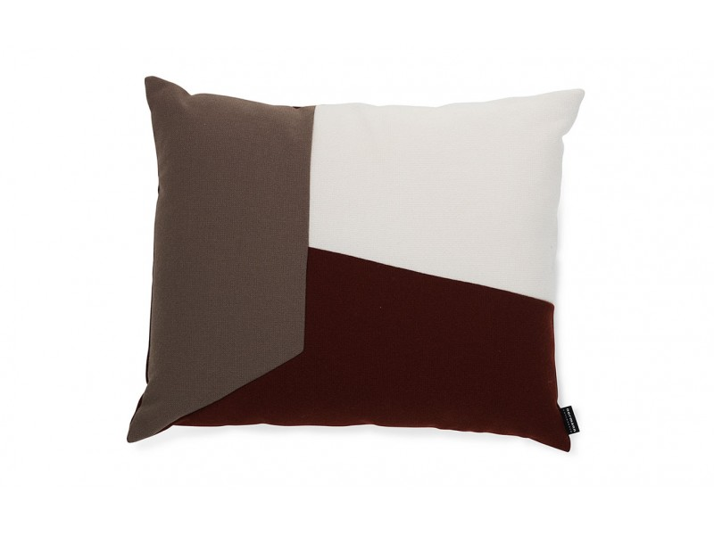Angle Cushion Burgundy Brown - Normann Copenhagen SALE Now $80