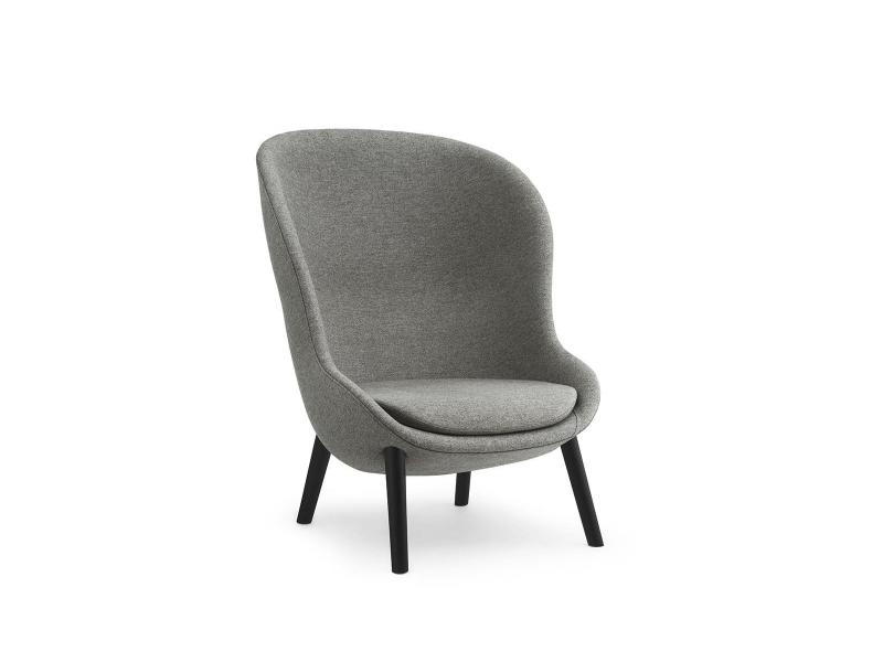 Hyg Lounge Chair High Black Oak - Normann Copenhagen