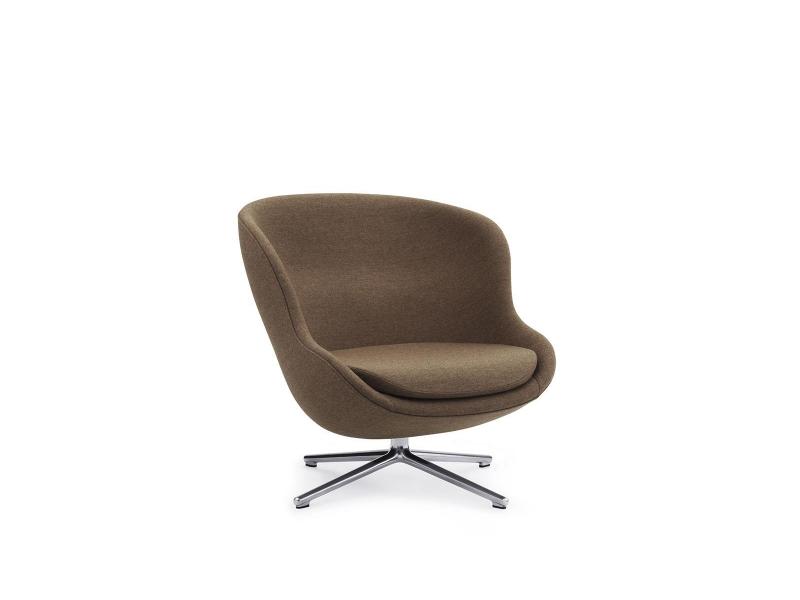 SALE Armchairs - Hyg Lounge Low Swivel Chair + Footstool  - Normann Copenhagen