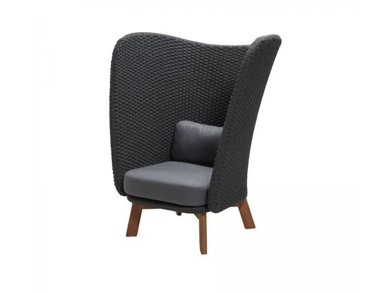Peacock Wing Highback Chair - Caneline Outdoor Seating