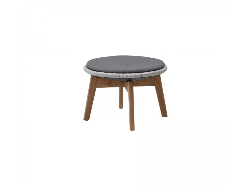 Peacock Footstool / Side Table - Caneline Outdoor Tables