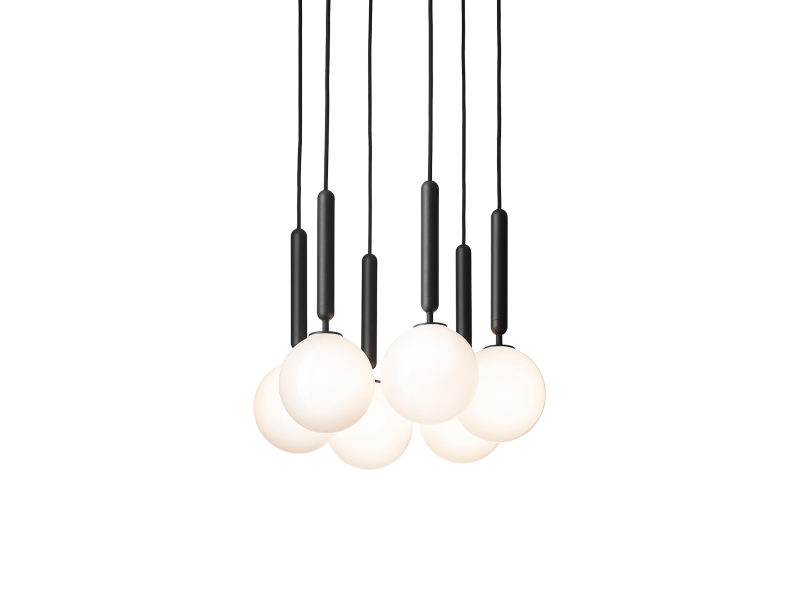 Miira 6 Opal Chandelier - Nuura Lighting