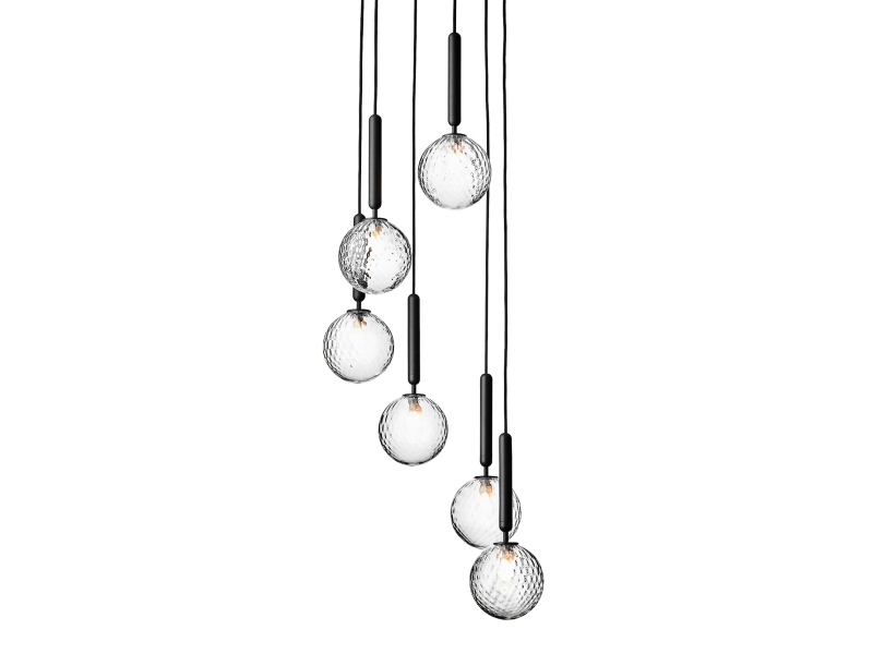 Miira 6 Optic Chandelier - Nuura Lighting