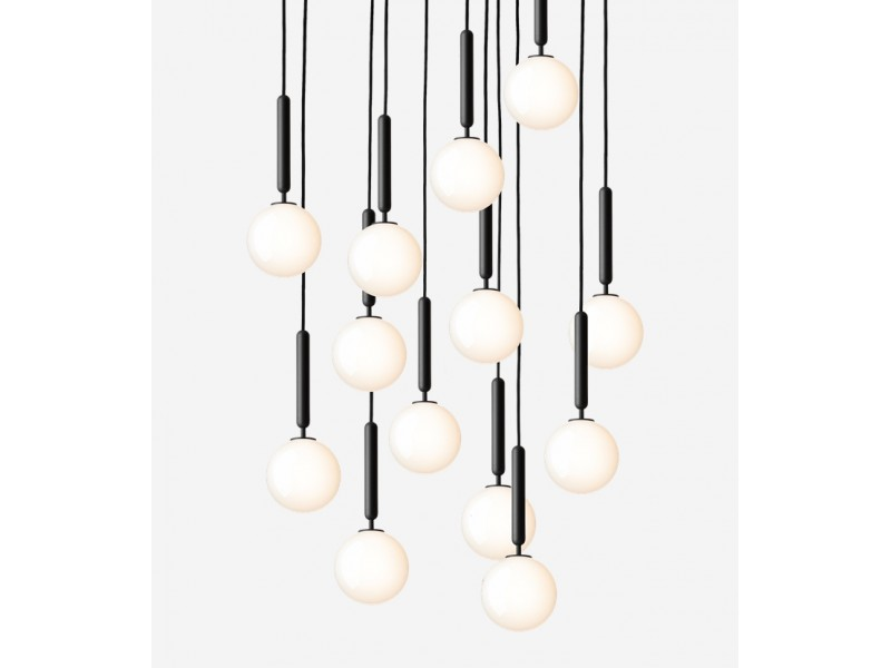 Miira 13 Opal Chandelier - Nuura Lighting