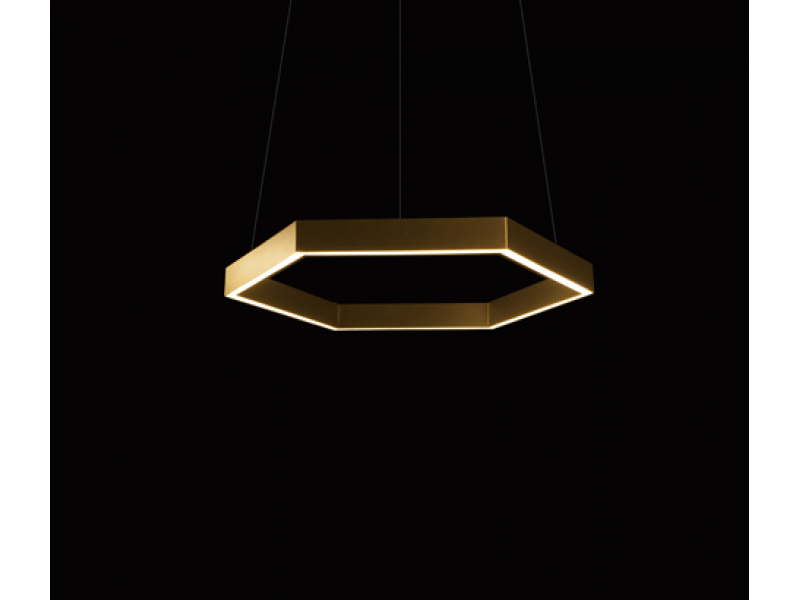 Brass Hex Pendant - Resident Lighting