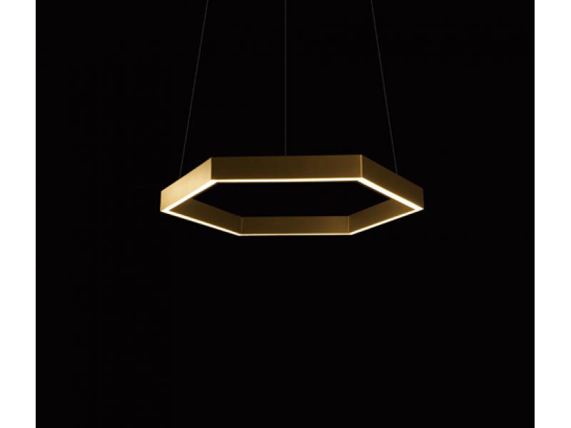 Brass Hex Pendant - Resident Lighting