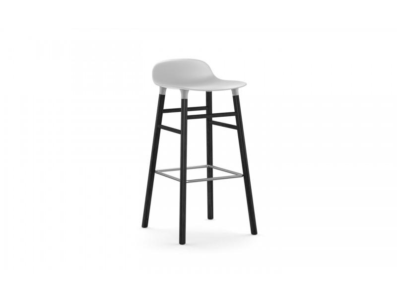 Form Bar Stool 75cm Black legs - Normann Copenhagen Seating