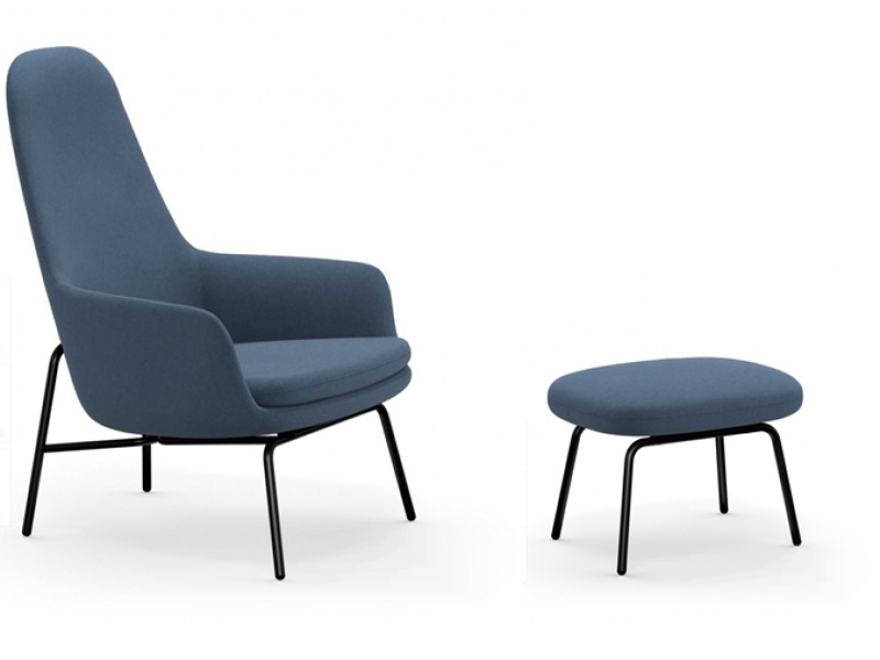 Era Lounge Chair High Back and Footstool - Normann Copenhagen SALE