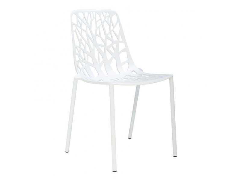 Forest Outdoor Side Chair in White - Fast SALE
