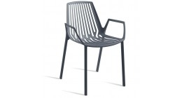 Rion Outdoor Chair Metallic Grey and White - Fast SALE