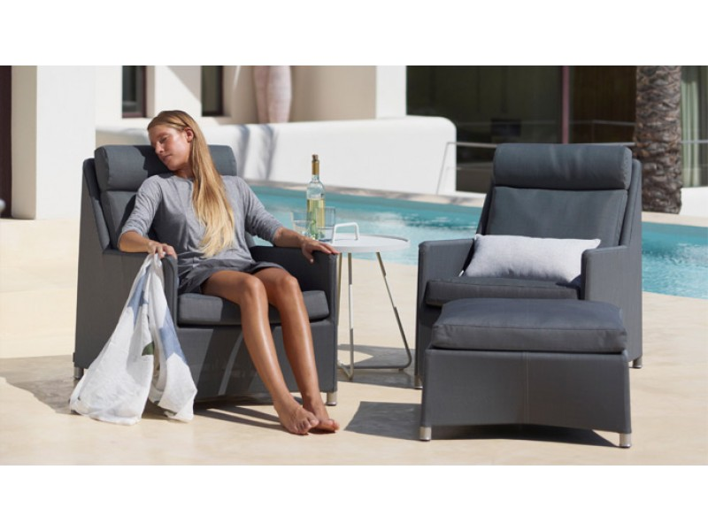 Diamond Highback Armchair - Caneline Outdoor