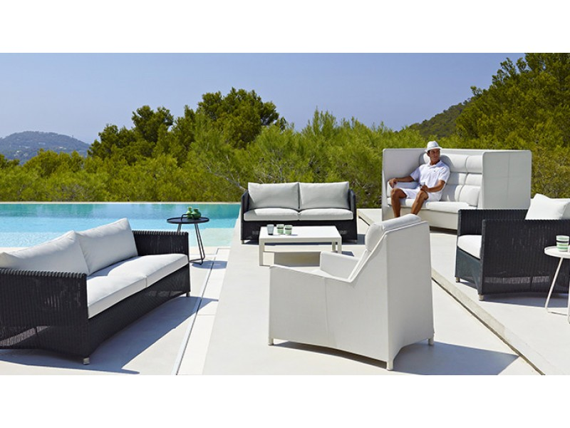 Diamond Highback Armchair Caneline Outdoor Hgfs