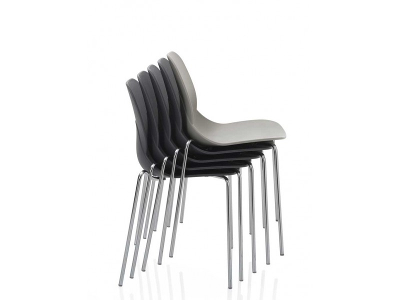 April Dining Chair in White, Anthracite & Sand - Bontempi SALE