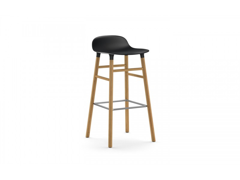 Form Bar Stool 75cm Oak legs - Normann Copenhagen Seating