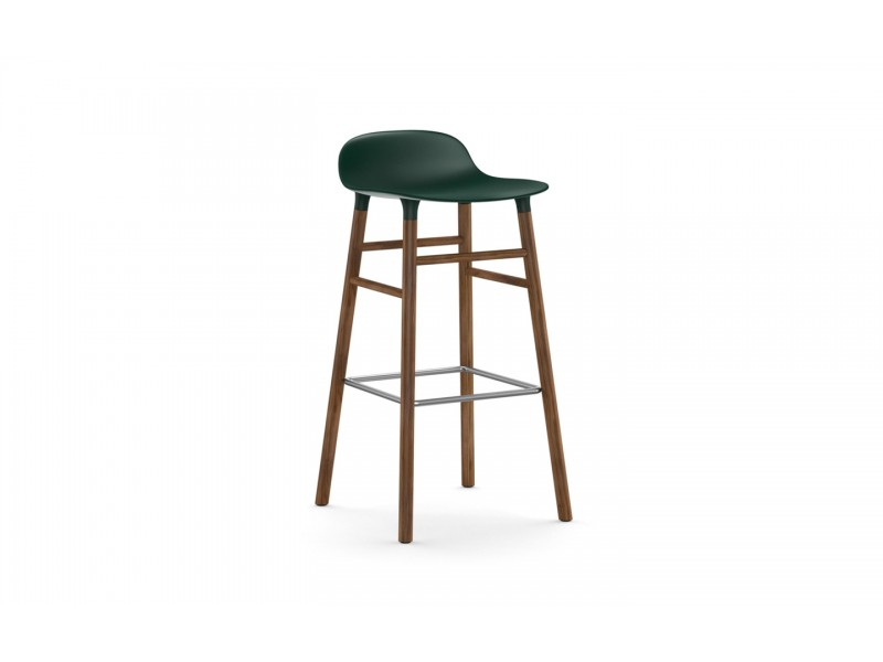 Form Bar Stool 75cm Walnut legs - Normann Copenhagen Seating