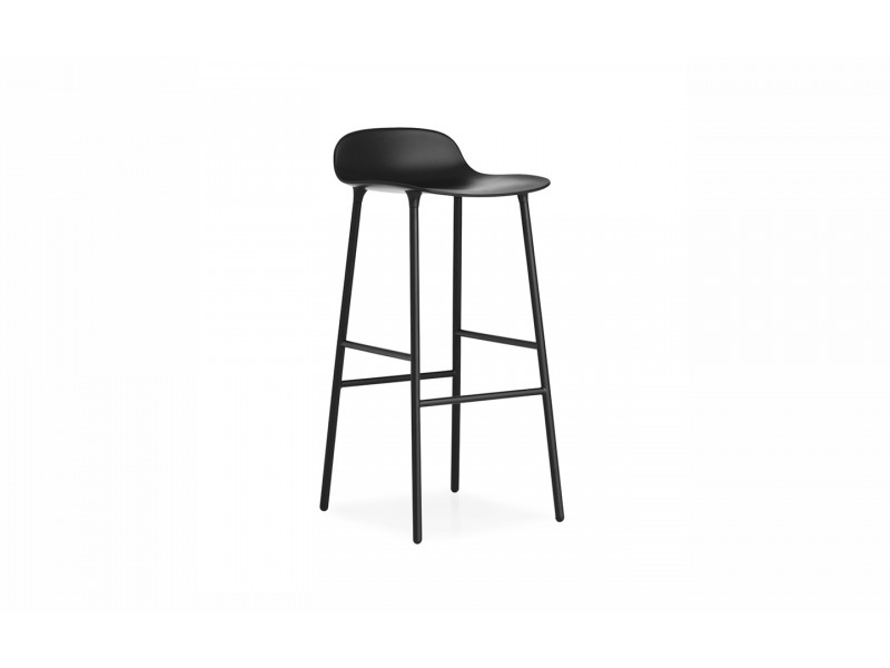 Form Bar Stool Steel Legs 75cm - Normann Copenhagen Seating